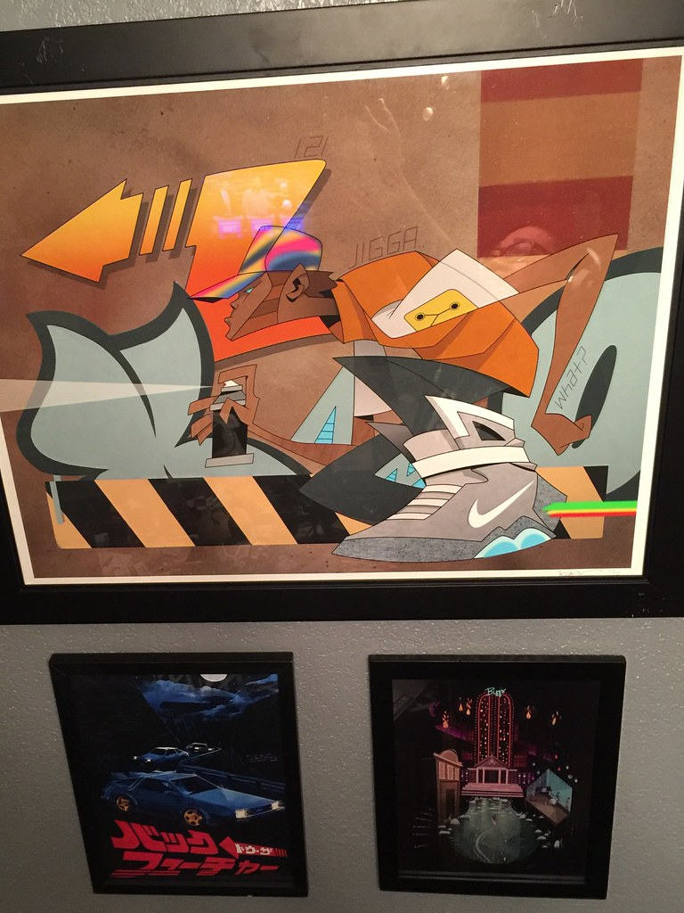 Back to the Future print wall