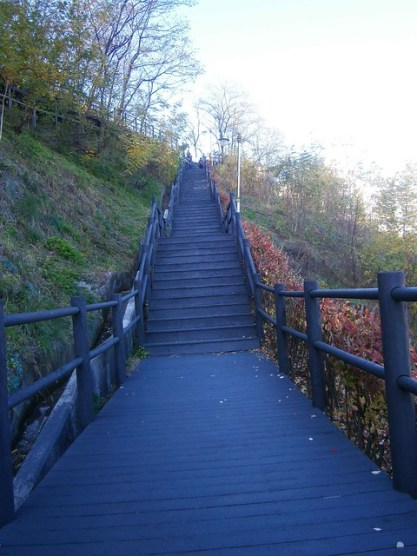 Stairs to Ansan Trail