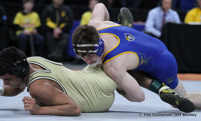 170AAA - 1st Place Match - Jake Allar (St Michael-Albertville) 42-2 won by tech fall over Jalen Thul (Apple Valley) 36-8 (TF-1.5 4:17 (22-7))