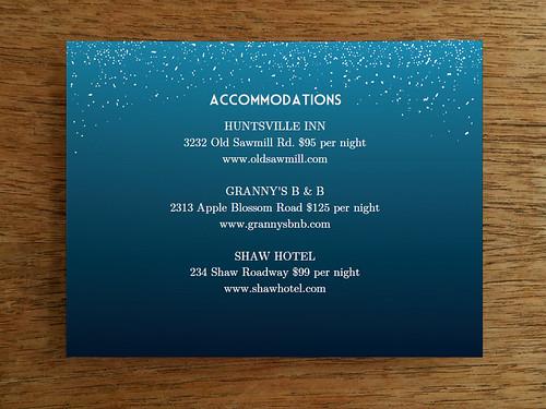 Printable Wedding Card Template - Starry Night