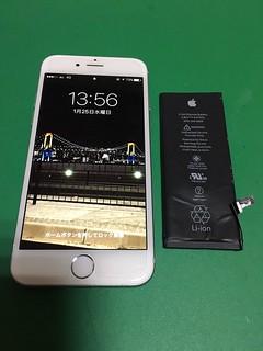 253_iPhone6のバッテリー交換