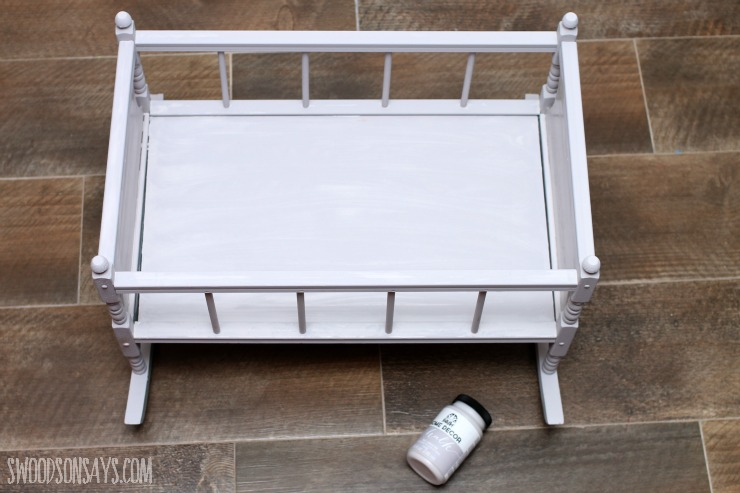 chalk paint crib