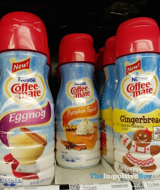 Nestle Coffee-mate Eggnog and Toll House Gingerbread Creamers