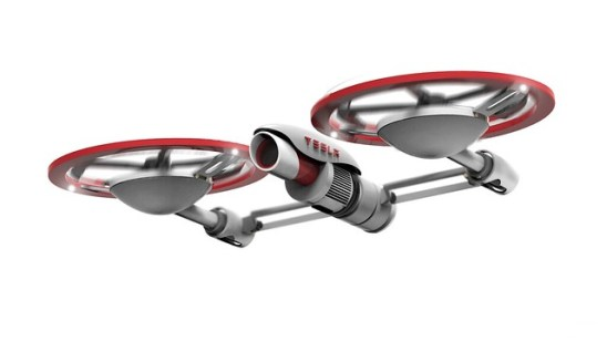 drone tesla