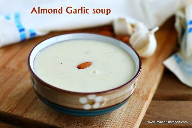 Garlic almond soup