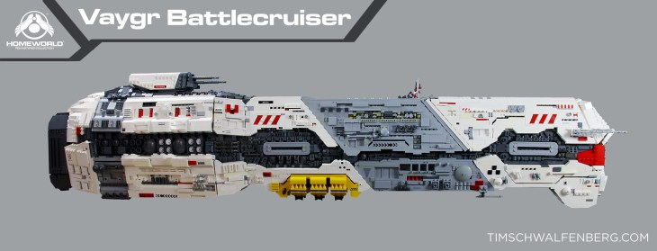Homeworld LEGO Vaygr Battlecruiser Side Profile