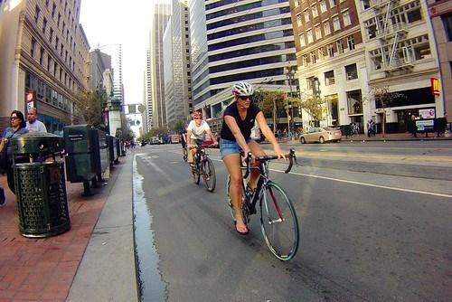 More bikes than cars on Market Street