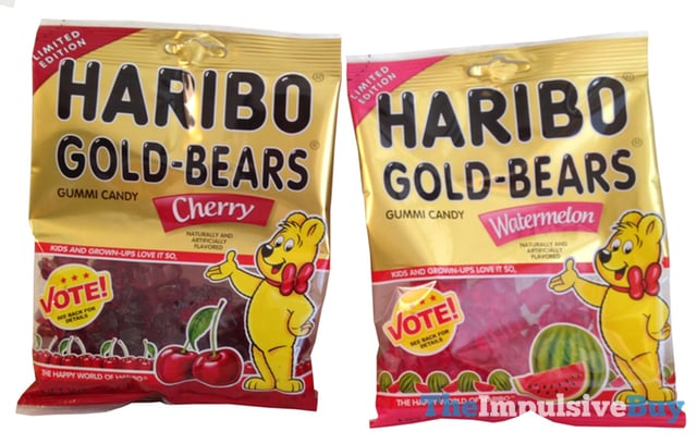 REVIEW: Limited Edition Watermelon and Cherry Haribo Gold-Bears