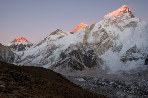 Red Khumbu sunset.