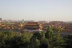Forbidden City view Jinshan Park