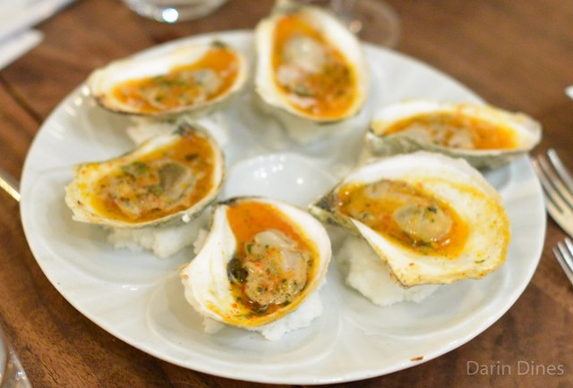 Grilled Oysters piment d'espelette