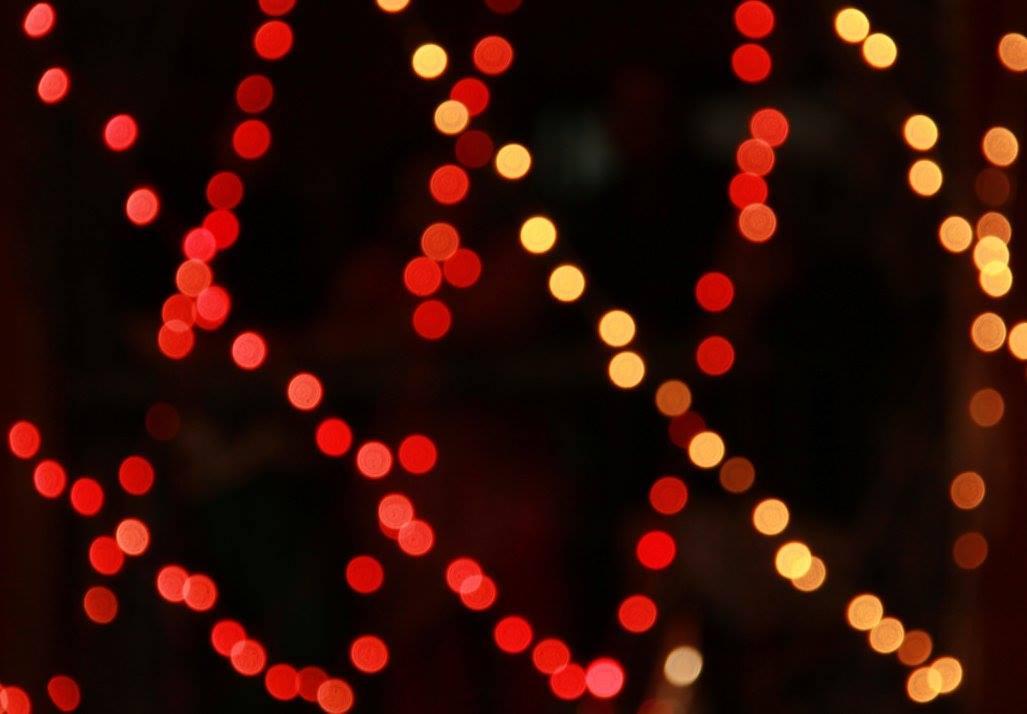 Christmas lights at Bow Barracks