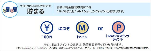 161210 ANAショッピングA-style100円ごとに1マイル