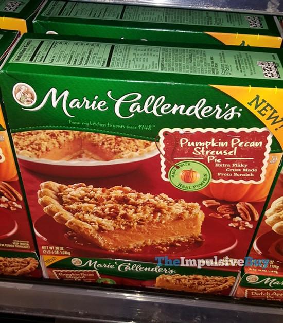 Marie Callender's Pumpkin Pecan Streusel Pie