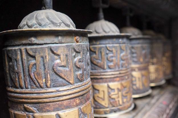 Prayer wheels. Patan