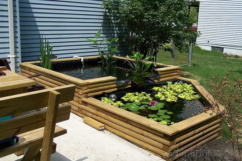 Top 50 garden pond designs that will rock your world for Above ground koi pond design ideas