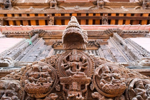 Wood carving. Patan Durbar Square