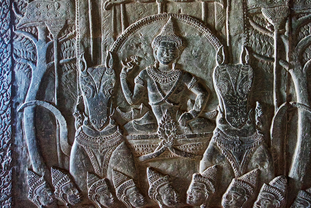 Just one section of a relief at Angkor Wat.