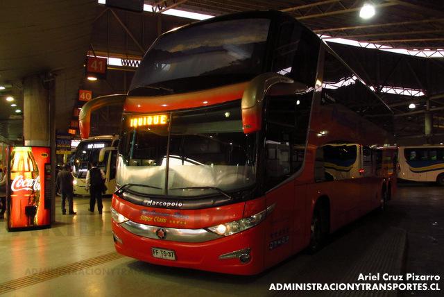 Pullman Bus - Terminal San Borja (Santiago) - Marcopolo Paradiso 1800 DD / Scania (FFTS37) (2552)