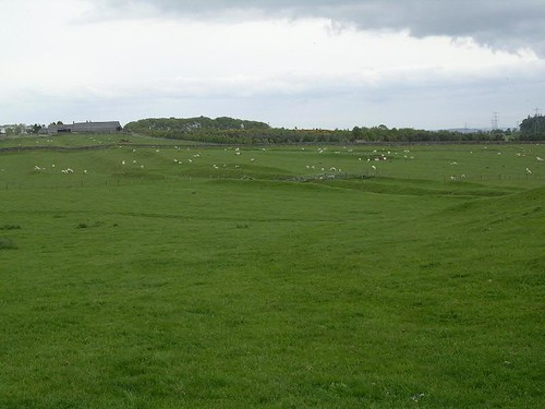 The Vallum, looking back towards Carr Hill farm