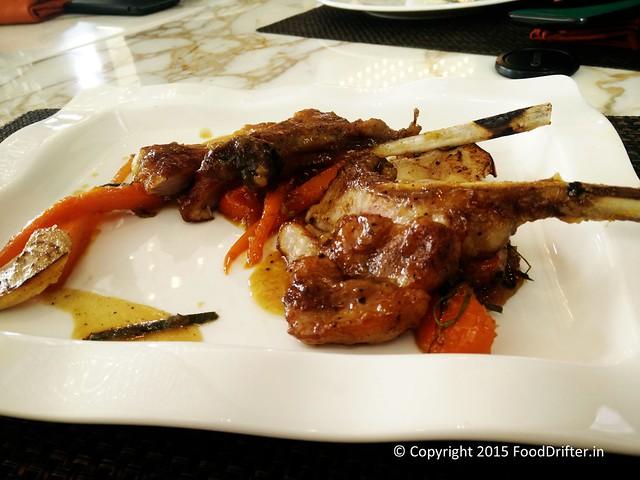 Pork Chop with Burnt Pineapple Glaze