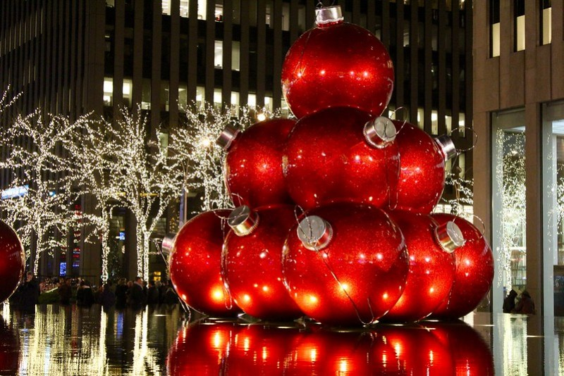 Giant Red Ornaments