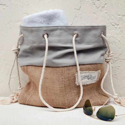 etsy greay canvas beach bag