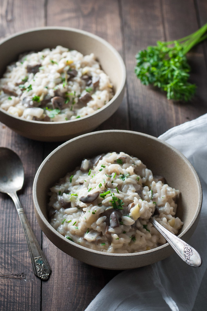 Garlic mushroom rosé risotto - because just drinking rosé is not enough.