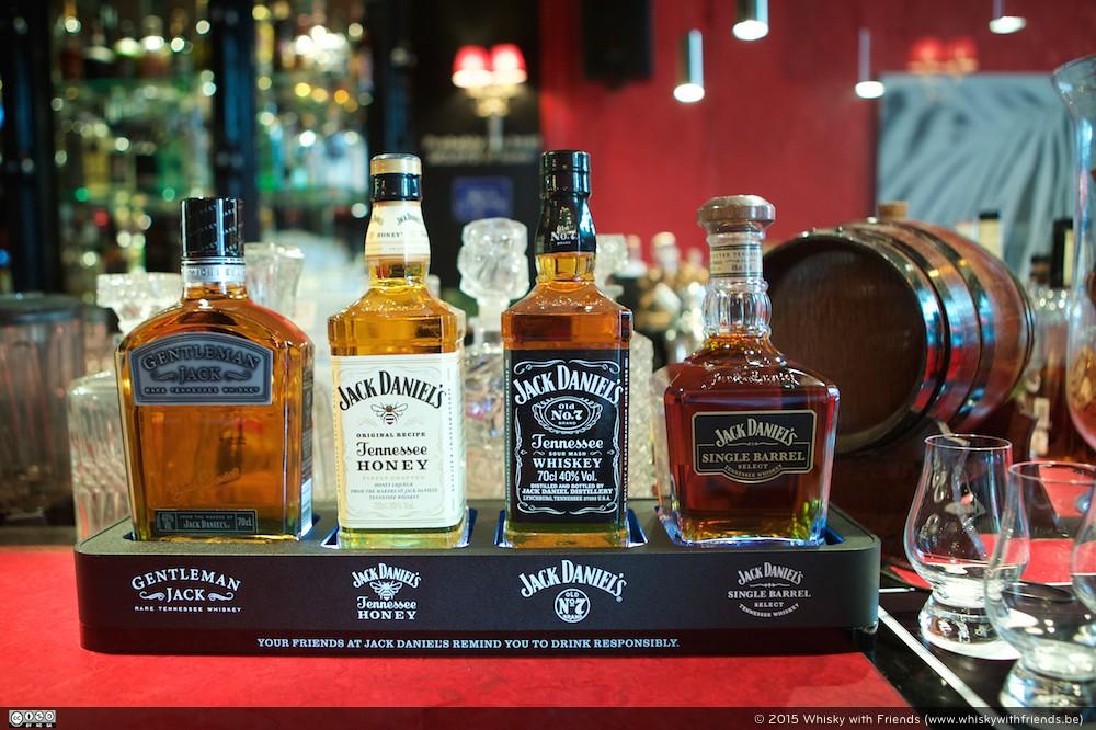Ik had het genoegen om na ons gesprek nog even van de verschillende Jack Daniel's producten te kunnen proeven.