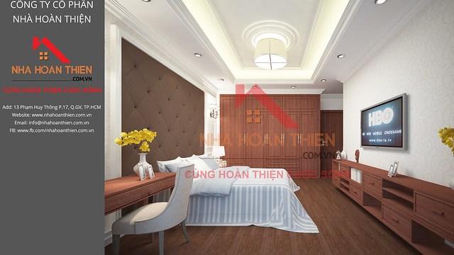 Bản vẽ 3D nội thất Phòng Ngủ Master - Lầu 1 căn L2.8 dự án CityLand Garden Hills - Gò Vấp