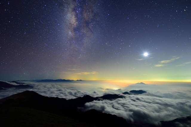 Moon and Galaxy, Mountain Hehuan