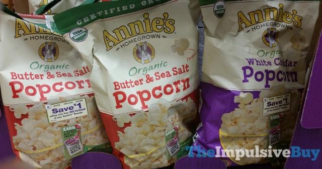 Annie's Organic Butter & Sea Salt and White Cheddar Popcorn