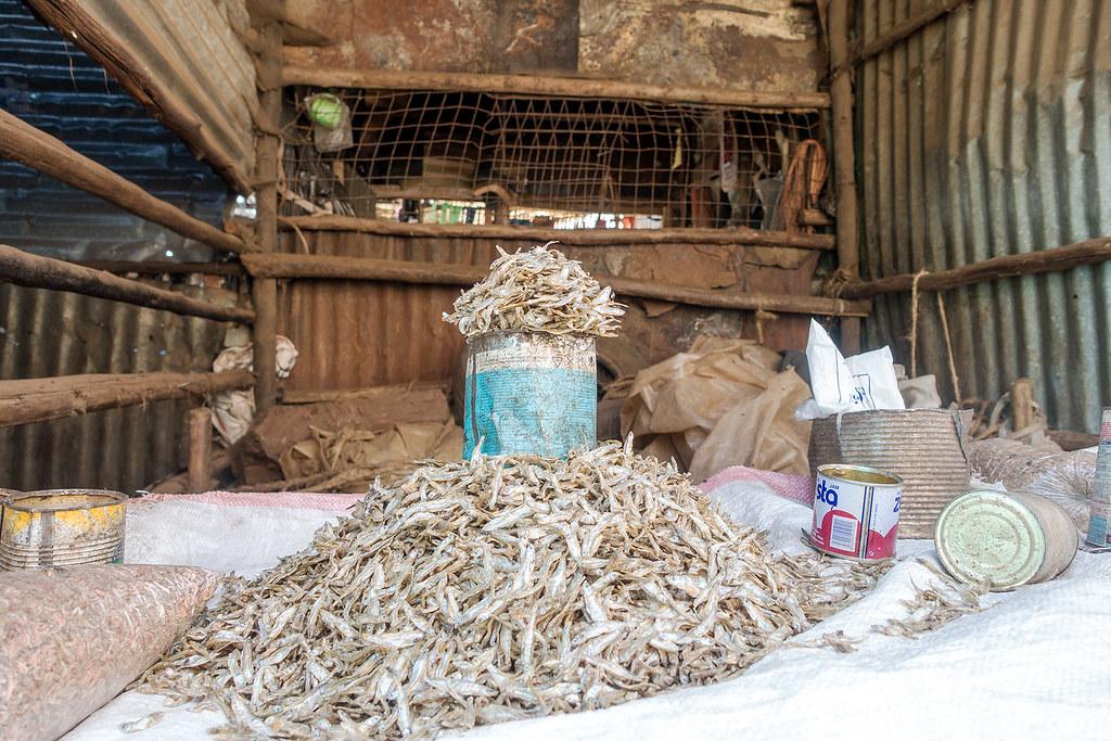 Fish merchant, Kibera Slum Tour