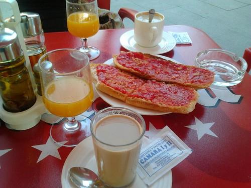 Desayuno en Granada