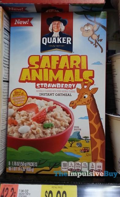 Quaker Safari Animals Strawberry Instant Oatmeal