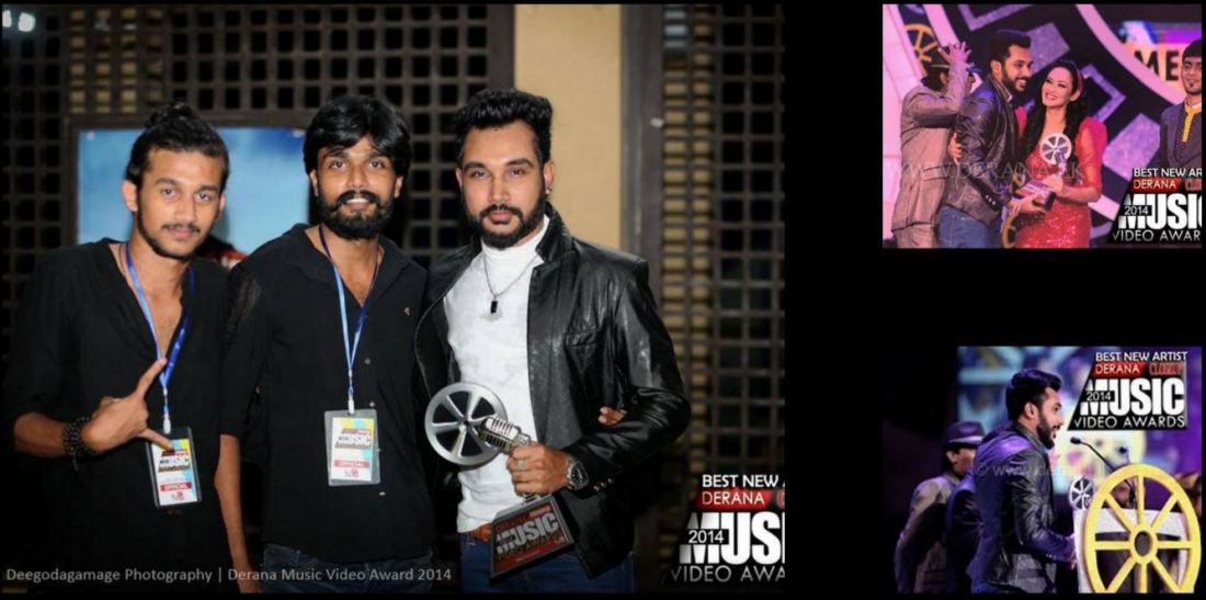 Recieving Award - The best New artist of the Year 2014 (Special award) at Derana Music Video Awards 2014 .