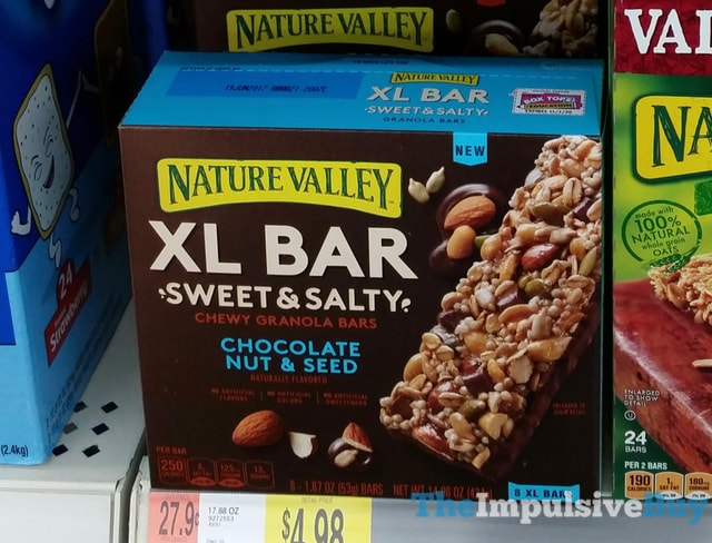 Nature Valley XL Bar Sweet & Salty Chocolate Nut & Seed Chewy Granola Bars