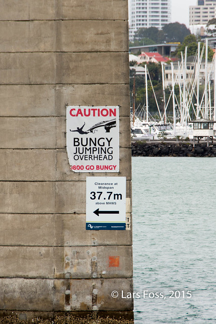 Sign at Auckland Harbour Bridge