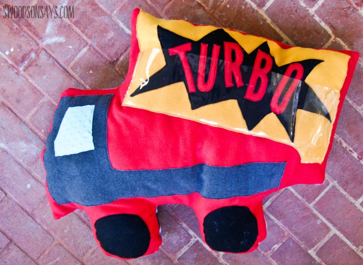 Giant dump truck pillow