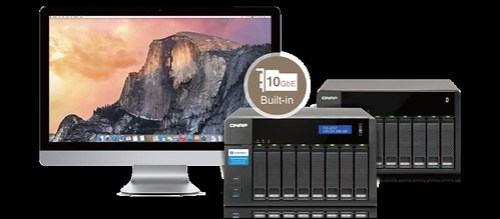 เชื่อมต่อกับ Mac เครื่องนึง แต่ในขณะเดียวกัน ก็เพิ่มความจุให้กับ QNAP TVS-871T ด้วย Storage expansion ผ่านพอร์ต Thunderbolt 2