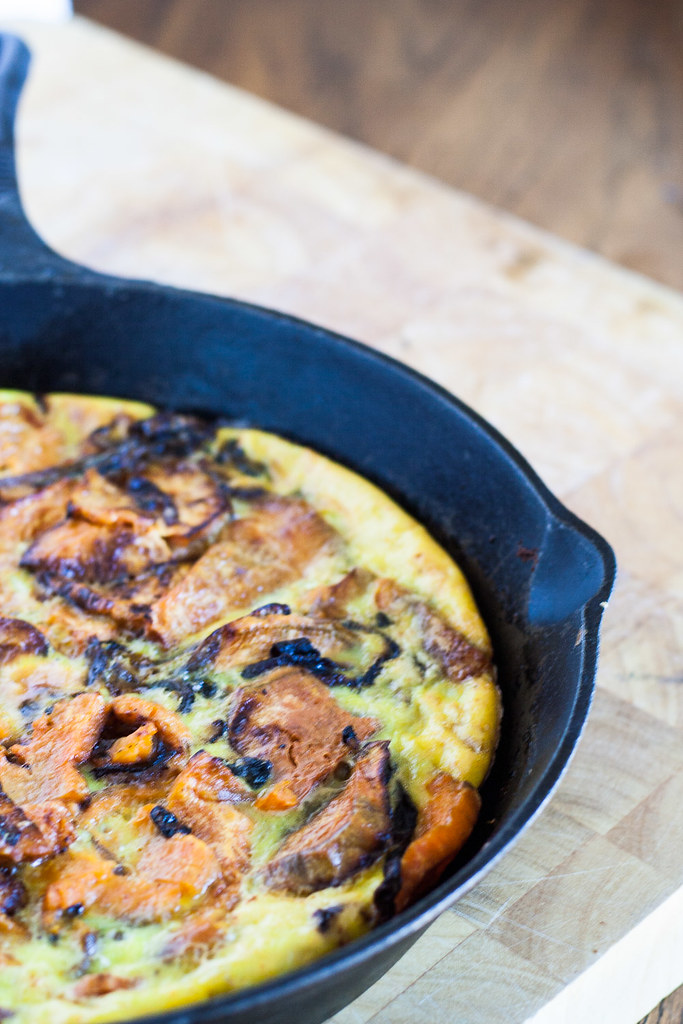 Roasted Sweet Potato Frittata | www.infinebalance.com #recipe #breakfast