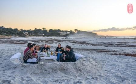 Dinner on the beach.