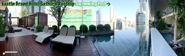 Eastin Grand Rooftop Swimming Pool Panorama