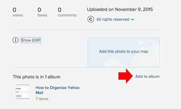 How to organize photos on flickr5