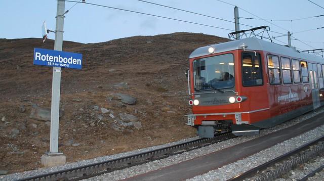Rotenboden station o gornegrat bahn