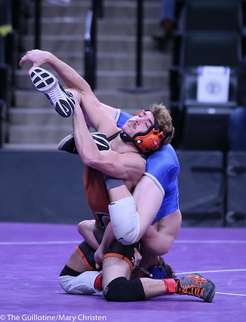 120AA - Semifinal - Justin Sampson (Waseca) 29-6 won in the ultimate tie breaker over Cole Jones (Grand Rapids) 42-3 (UTB 3-2)