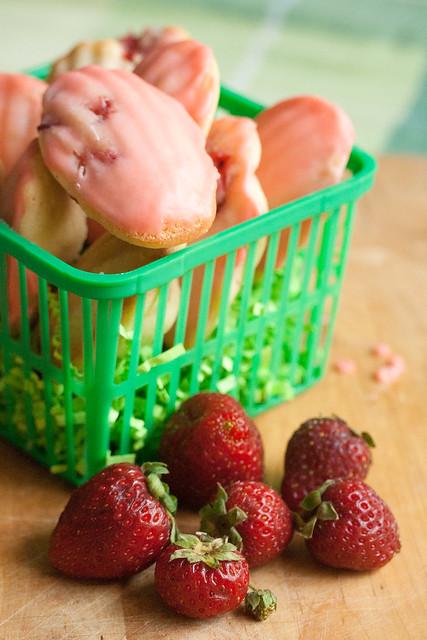 Strawberry-Lemon Madeleines