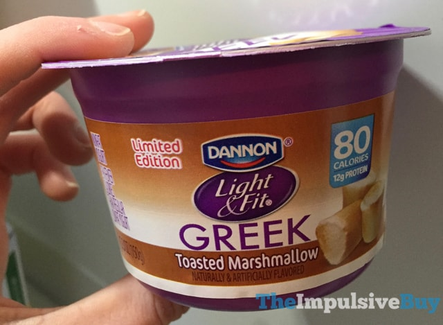 Limited Edition Dannon Light & Fit Toasted Marshmallow Greek Yogurt