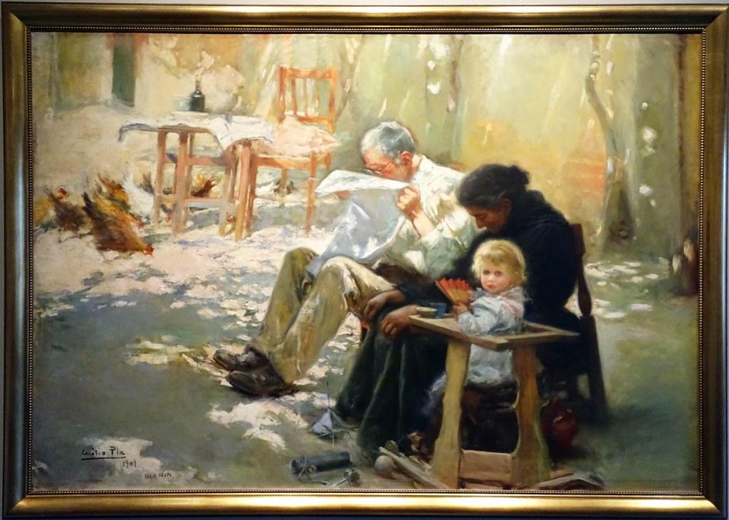 1902 pintura Dos generaciones de Cecilio PLa y Gallardo Museo de Navarra Pamplona