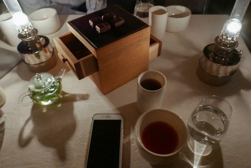 Tea, coffee and mignardises